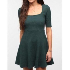 PINS AND NEEDLES GREEN SKATER DRESS Fit and Flare